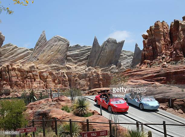 In this handout photo provided by Disney Parks coming to Disney California Adventure park June 15 Cars Land features three immersive family...