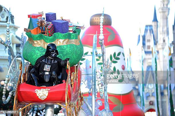 In this handout photo provided by Disney Parks Darth Vader participates in the Disney Parks Christmas Day Parade television special at Magic Kingdom...