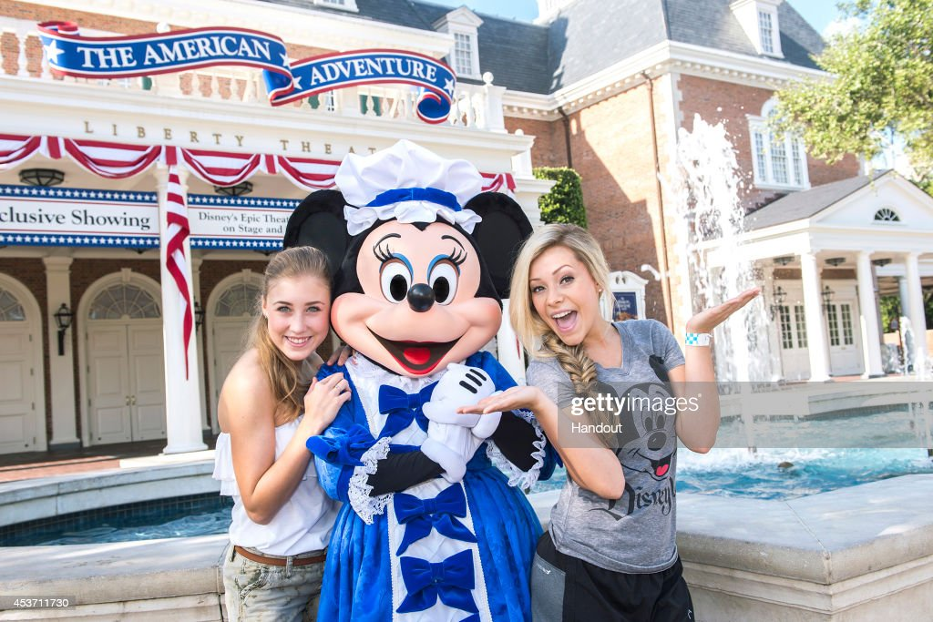 In this handout photo provided by Disney Parks musicians Maddie Marlow and Taylor Dye of Maddie Tae best know for their song 'Girl In A Country Song'...