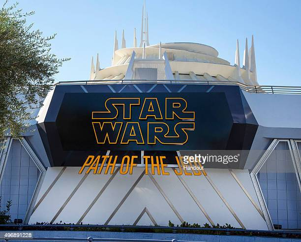In this handout photo provided by Disney Parks STAR WARS PATH OF THE JEDI In the Tomorrowland Theater Disneyland park guests will relive stories from...