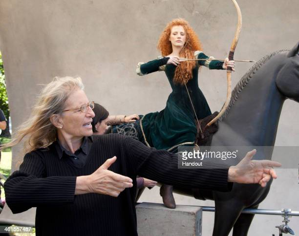 MERIDA In this handout photo provided by Disney Parks taken September 25 2013 in Cold Spring NY Jessica Chastain poses for acclaimed photographer...