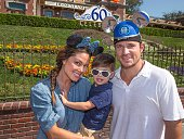 In this handout photo provided by Disney Parks Vanessa Lachey Camden Lachey and singer/tv personality Nick Lachey visit Disneyland on September 08...