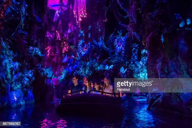 In this handout photo provided by Disney Resorts a view of the new Pandora World of Avatar attraction inside Disneys Animal Kingdom during the...