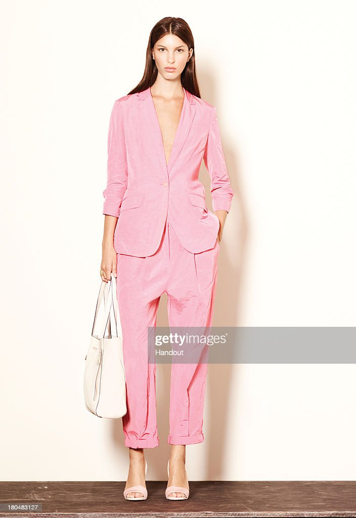 In this handout photo provided by Elizabeth And James, a model is seen during a presentation for Elizabeth And James during Mercedes-Benz Fashion Week Spring 2014 on September 12, 2013 in New York City.