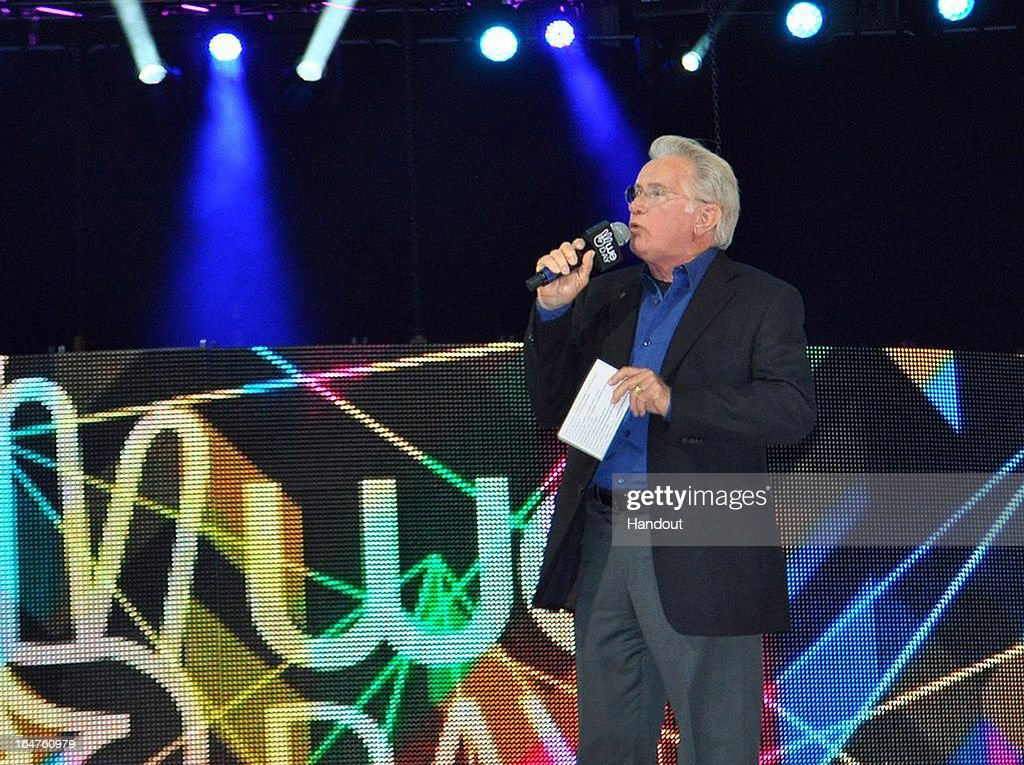 In this handout photo provided by Free The Children, award winning actor and activist Martin Sheen addresses the importance of activism, speaking to 15,000 local youth on stage at the Key Arena on March 28, 2013 in Seattle, Washington.