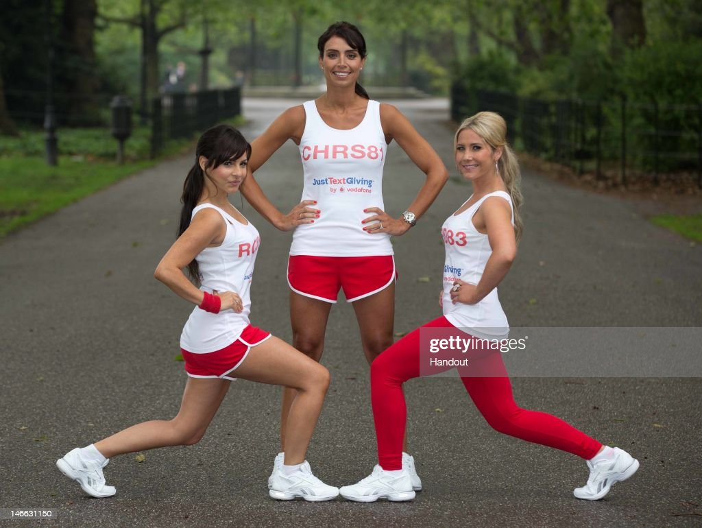 In this handout photo provided by Freud Communications Roxanne Pallett Christine Bleakley and Heidi Range get together to encourage women to use text...