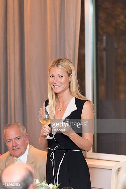 In this handout photo provided by goop Gwyneth Paltrow attends goop pop launch party April 28 2015 in Chicago Illinois