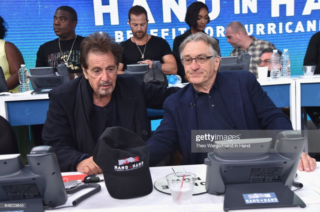 In this handout photo provided by Hand in Hand, Al Pacino, Robert De Niro attends Hand in Hand: A Benefit for Hurricane Relief at ABC News' Good Morning America Times Square Studio on September 12, 2017 in New York City.