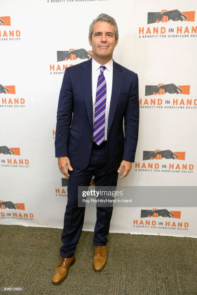In this handout photo provided by Hand in Hand, Andy Cohen caption at ABC News' Good Morning America Times Square Studio on September 12, 2017 in New York City.