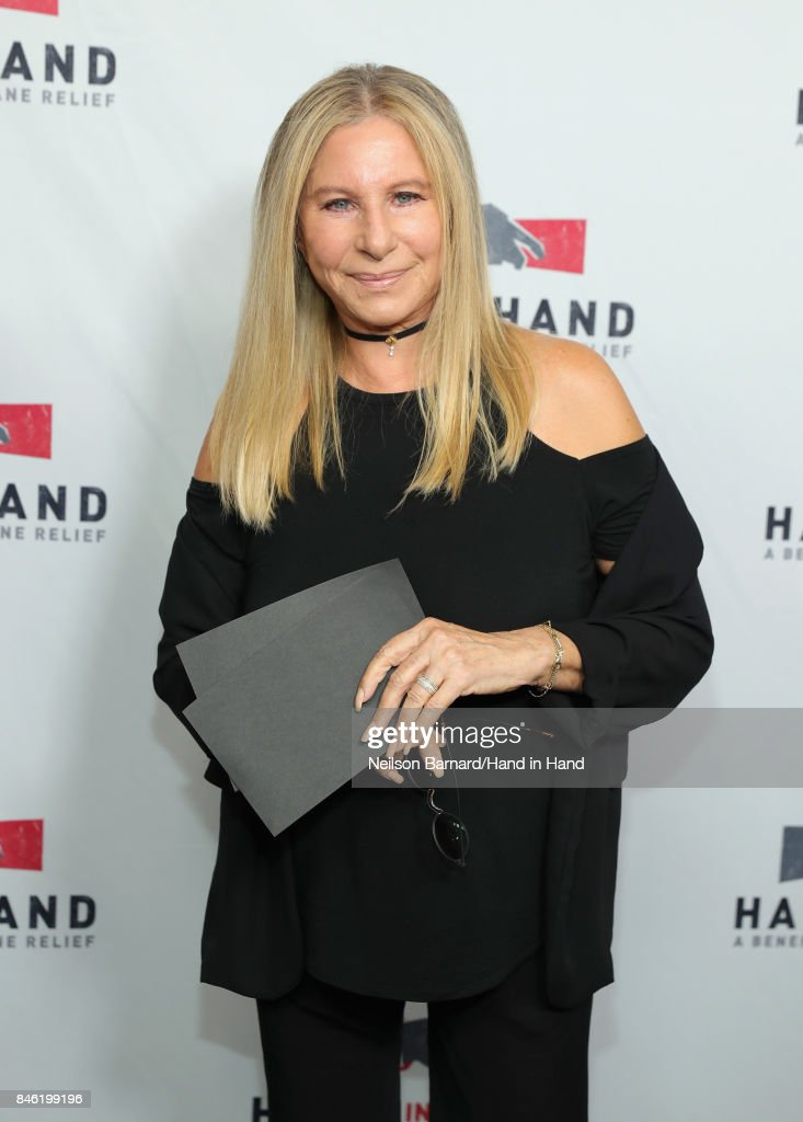 In this handout photo provided by Hand in Hand, Barbra Streisand attends Hand in Hand: A Benefit for Hurricane Relief at Universal Studios AMC on September 12, 2017 in Universal City, California.