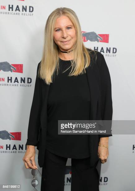 In this handout photo provided by Hand in Hand Barbra Streisand attends Hand in Hand A Benefit for Hurricane Relief at Universal Studios AMC on...