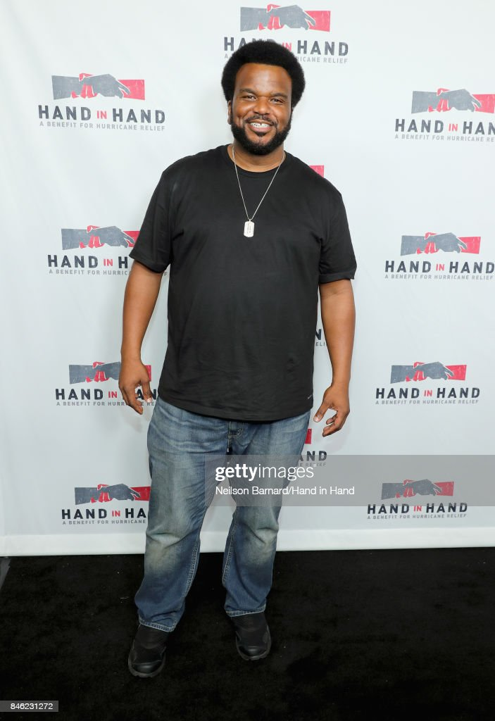 In this handout photo provided by Hand in Hand, Craig Robinson attends Hand in Hand: A Benefit for Hurricane Relief at Universal Studios AMC on September 12, 2017 in Universal City, California.