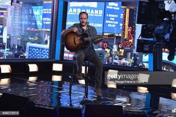 In this handout photo provided by Hand in Hand Dave Matthews attends Hand in Hand A Benefit for Hurricane Relief at ABC News' Good Morning America...