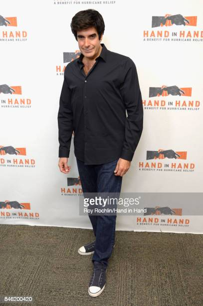 In this handout photo provided by Hand in Hand David Copperfield caption at ABC News' Good Morning America Times Square Studio on September 12 2017...