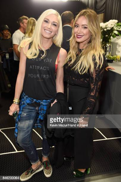 In this handout photo provided by Hand in Hand Gwen Stefani and Hilary Duff attend Hand in Hand A Benefit for Hurricane Relief at Universal Studios...