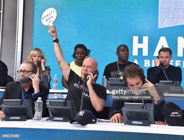In this handout photo provided by Hand in Hand Malin Akerman Uzo Aduba Tracy Morgan Leonardo DiCaprio Steve Buscemi Bruce Willis Al Pacino attends...
