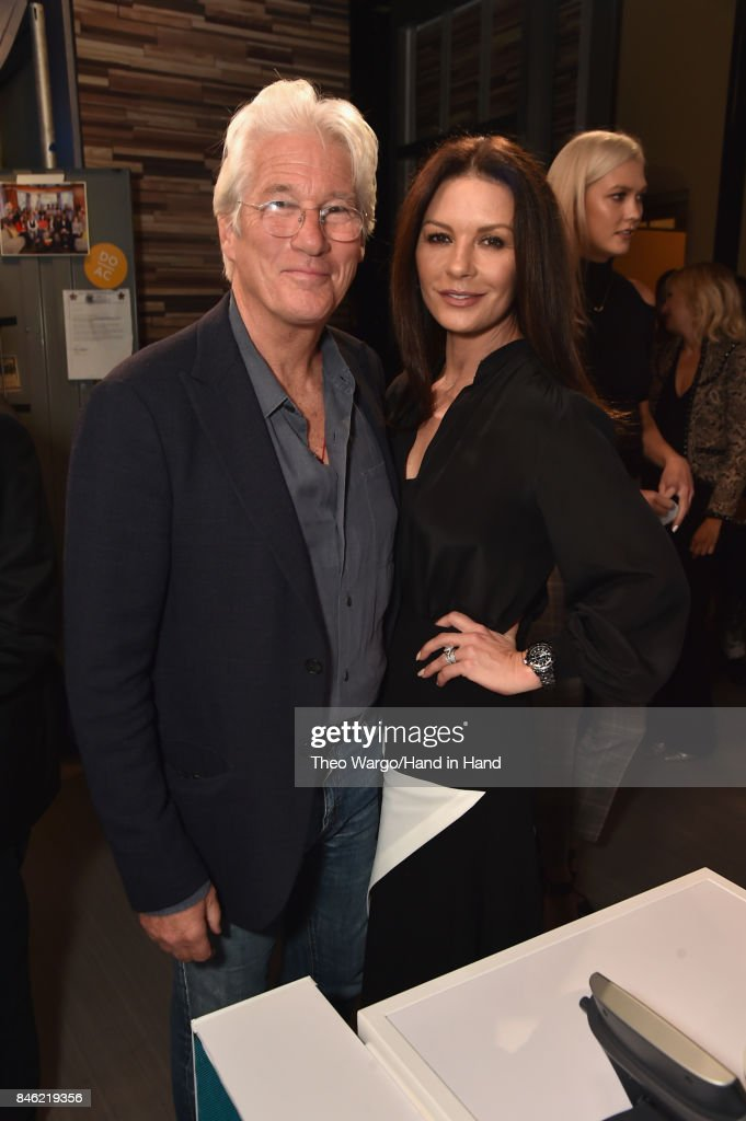 In this handout photo provided by Hand in Hand, Richard Gere, Catherine Zeta-Jones attends Hand in Hand: A Benefit for Hurricane Relief at ABC News' Good Morning America Times Square Studio on September 12, 2017 in New York City.