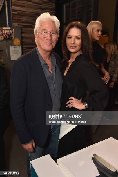 In this handout photo provided by Hand in Hand Richard Gere Catherine ZetaJones attends Hand in Hand A Benefit for Hurricane Relief at ABC News' Good...