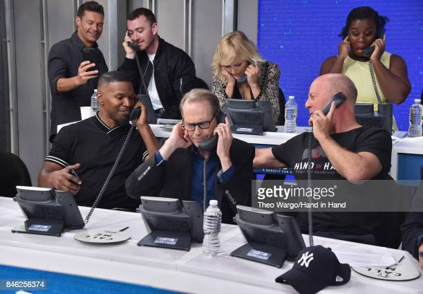 In this handout photo provided by Hand in Hand Sam Smith Jamie Foxx Steve Buscemi and Bruce Willis caption at ABC News' Good Morning America Times...