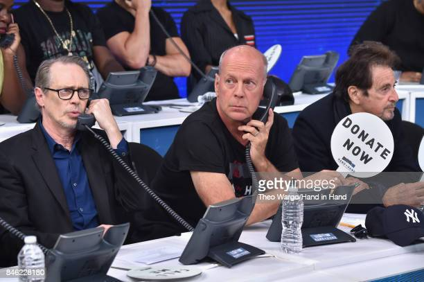 In this handout photo provided by Hand in Hand Steve Buscemi Bruce Willis Al Pacino caption at ABC News' Good Morning America Times Square Studio on...