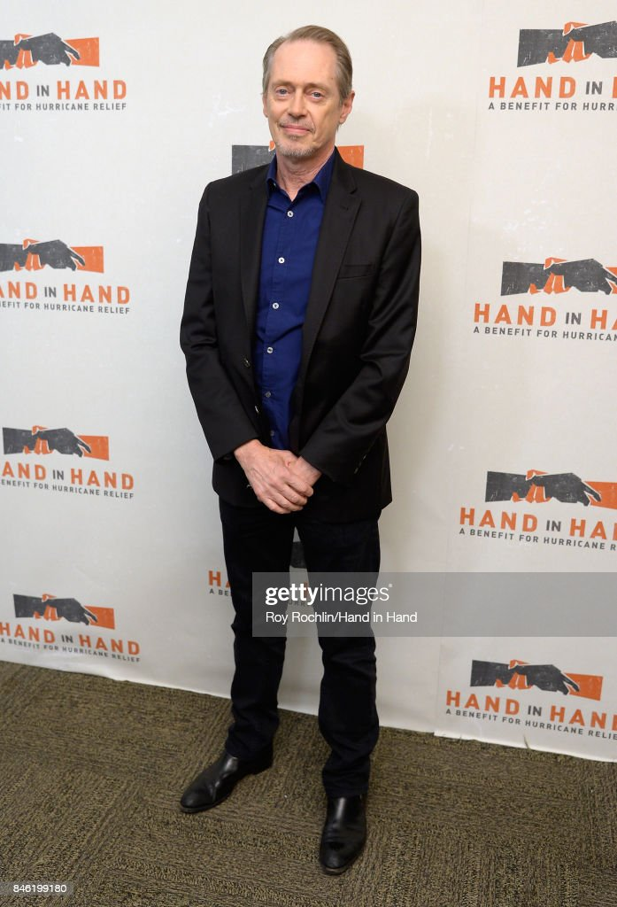 In this handout photo provided by Hand in Hand, Steve Buscemi caption at ABC News' Good Morning America Times Square Studio on September 12, 2017 in New York City.
