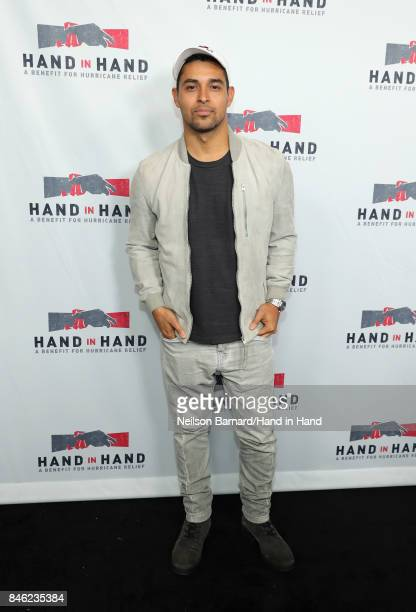 In this handout photo provided by Hand in Hand Wilmer Valderrama attends Hand in Hand A Benefit for Hurricane Relief at Universal Studios AMC on...