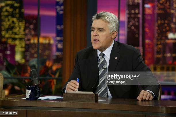 BURBANK CA SEPTEMBER 27 In this handout photo provided by Host Jay Leno on the occasion of the 50th anniversary of The Tonight Show announces that in...