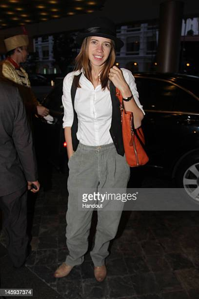 In this handout photo provided by IIFA Kalki arrives at the Videocon IIFA Weekend 2012 on June 7 2012 in Singapore