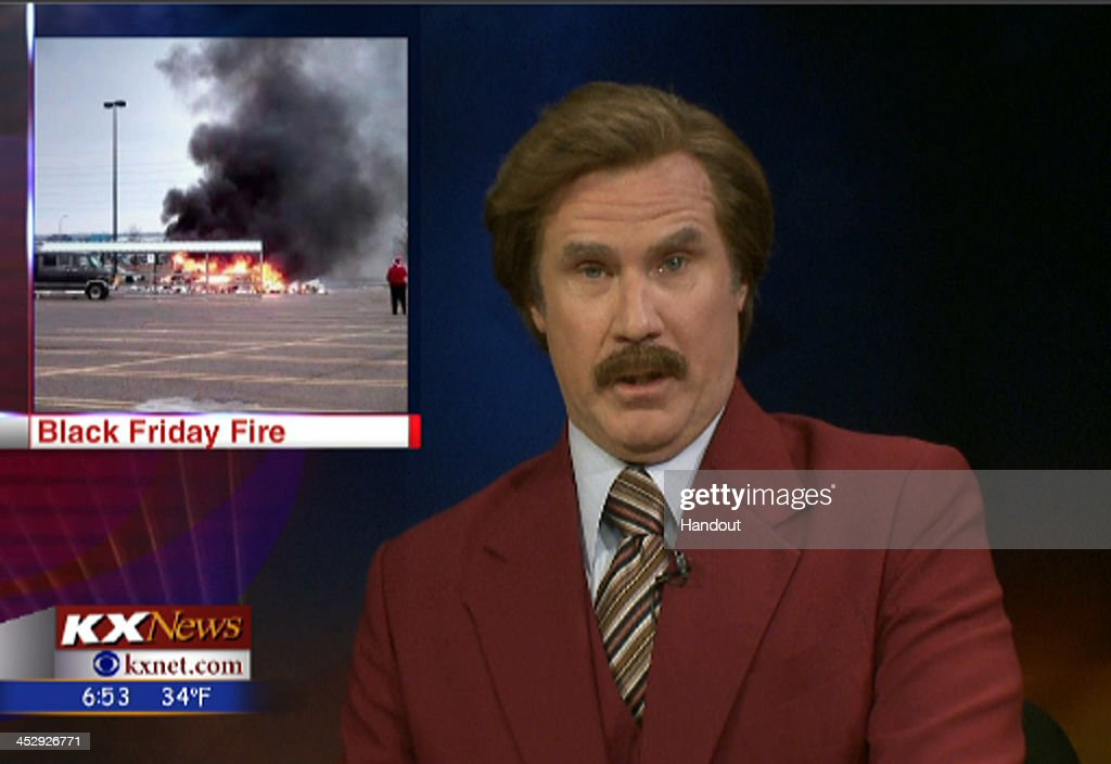 In this handout photo provided by KXMB TV Bismarck Ron Burgundy participates in the KX News evening broadcast on November 30 2013 in Bismarck North...