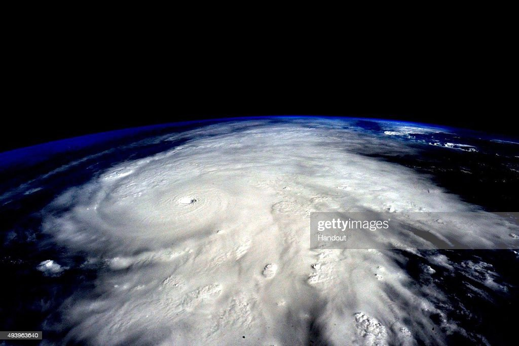 IN SPACE In this handout photo provided by NASA Hurricane Patricia is seen from the International Space Station The hurricane made landfall on the...