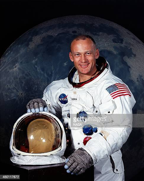 UNSPECIFIED JULY 1969 In this handout photo provided by NASA US astronaut Edwin E 'Buzz' Aldrin Jr Lunar Module pilot on Apollo 11 poses for a...