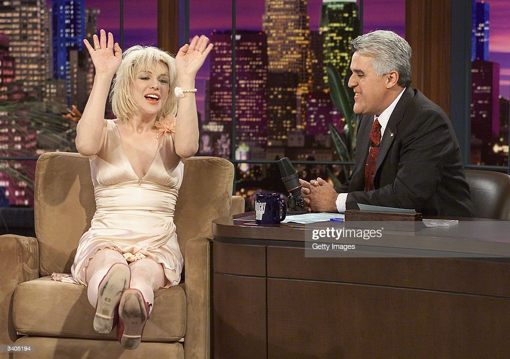 "Courtney Love Appears On ""The Tonight Show"" With Jay Leno"