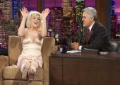 In this handout photo provided by NBC musician Courtney Love appears on 'The Tonight Show with Jay Leno' at the NBC Studios on April 15 2004 in...