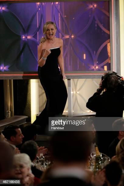 In this handout photo provided by NBCUniversal Amy Poehler accepts the award for Best Actress TV Series Comedy or Musical for 'Parks and Recreation'...