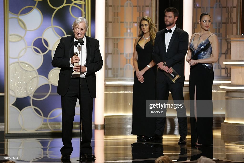 In this handout photo provided by NBCUniversal, director Paul Verhoeven accepts the award for Best Foreign Language Film for 'Elle' during the 74th Annual Golden Globe Awards at The Beverly Hilton Hotel on January 8, 2017 in Beverly Hills, California.