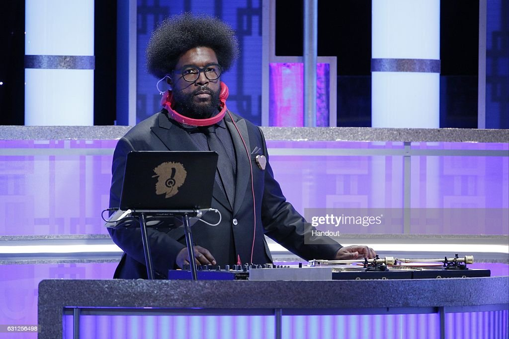 In this handout photo provided by NBCUniversal, DJ Questlove onstage during the 74th Annual Golden Globe Awards at The Beverly Hilton Hotel on January 8, 2017 in Beverly Hills, California.