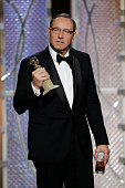 In this handout photo provided by NBCUniversal Kevin Spacey Winner of Best Actor TV Series Drama for 'House of Cards' speaks onstage during the 72nd...