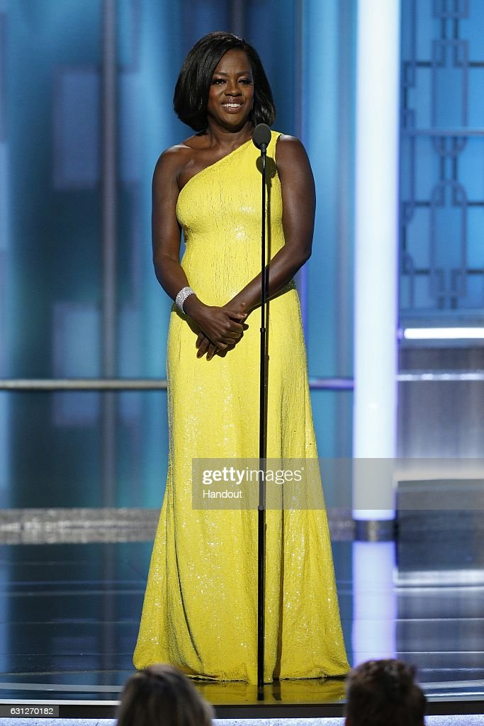In this handout photo provided by NBCUniversal, presenter Viola Davis onstage during the 74th Annual Golden Globe Awards at The Beverly Hilton Hotel on January 8, 2017 in Beverly Hills, California.