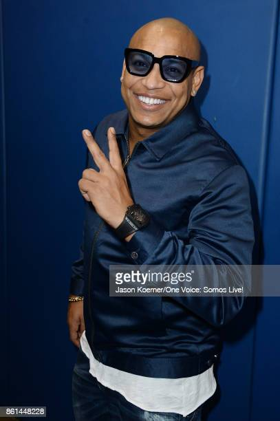 In this handout photo provided by One Voice Somos Live Alexander Delgado poses backstage at One Voice Somos Live A Concert For Disaster Relief at...
