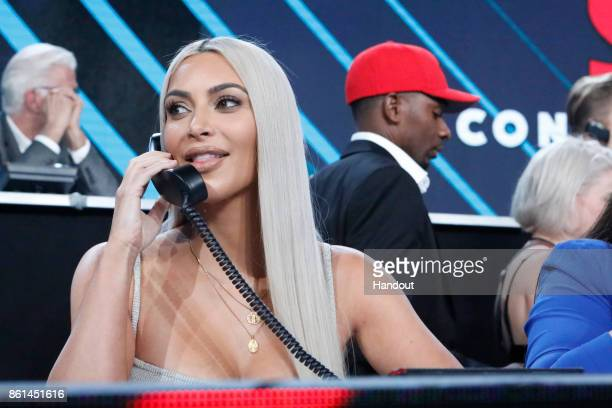 In this handout photo provided by One Voice Somos Live Kim Kardashian West participates in the phone bank during 'One Voice Somos Live A Concert For...