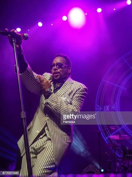 In this handout photo provided by Paisley Park Studios Morris Day and The Time perform during Paisley Park's Celebration 2017 honoring Prince at...