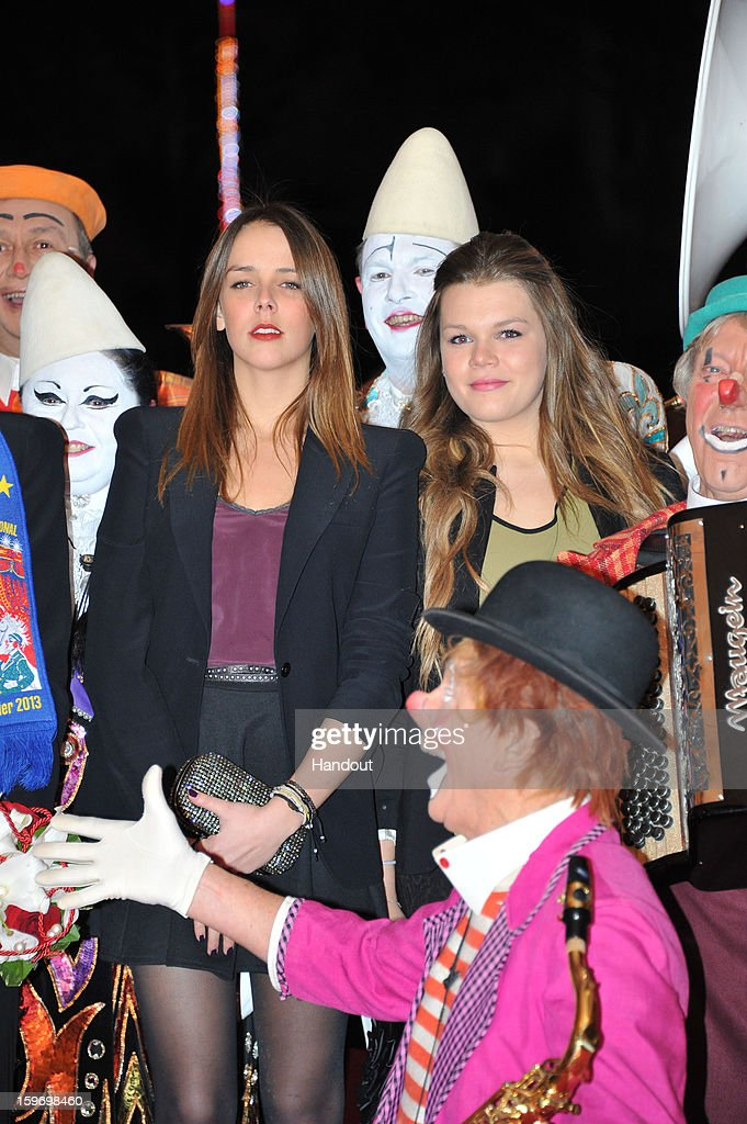 In this handout photo provided by Palais Princier, Camille Gotlieb and Pauline Ducruet attends the Monte-Carlo 37th International Circus Festival on January 18, 2013 in Monte-Carlo, Monaco.