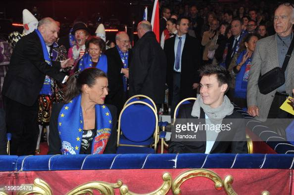 In this handout photo provided by Palais Princier Louis Ducruet and Princess Stephanie of Monaco attends the MonteCarlo 37th International Circus...