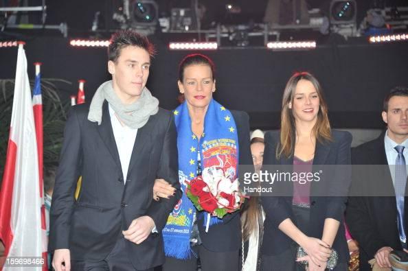 In this handout photo provided by Palais Princier Louis Ducruet Princess Stephanie of Monaco and Pauline Ducruet attends the MonteCarlo 37th...