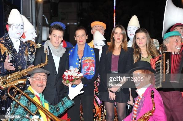 In this handout photo provided by Palais Princier Louis Ducruet Princess Stephanie of Monaco Pauline Ducruet and Camille Gotlieb attends the...