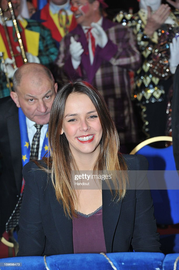 In this handout photo provided by Palais Princier, Pauline Ducruet attends the Monte-Carlo 37th International Circus Festival on January 18, 2013 in Monte-Carlo, Monaco.