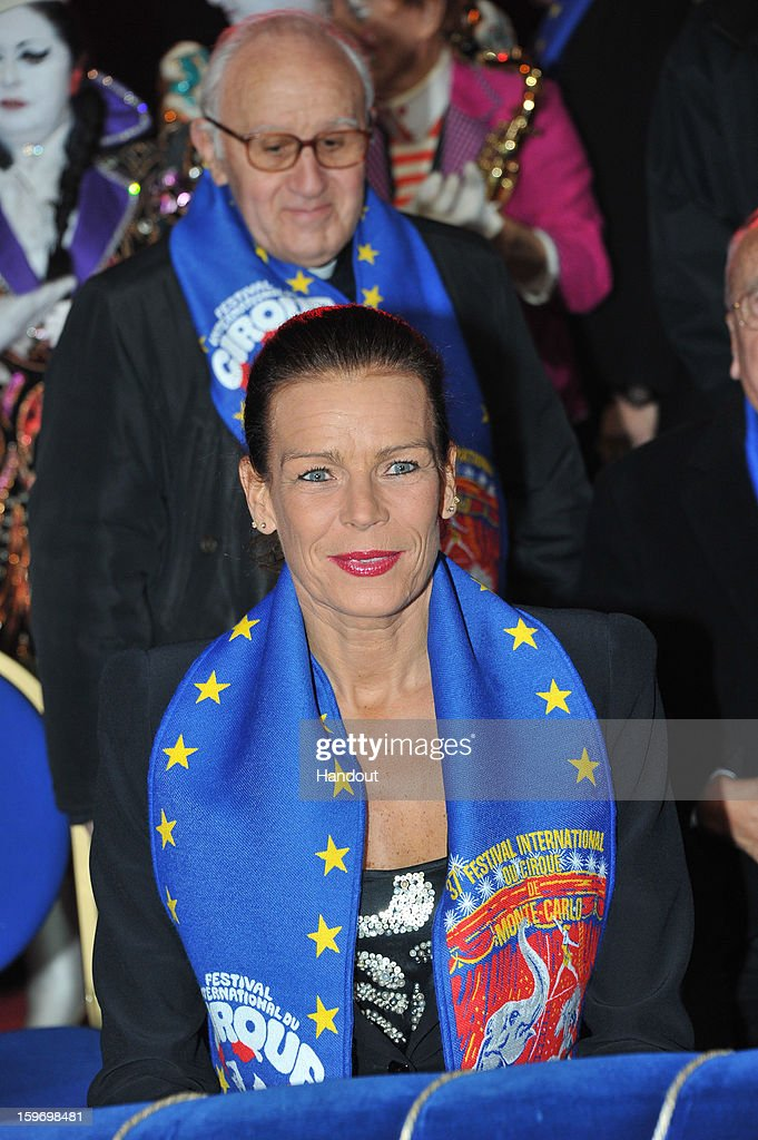 In this handout photo provided by Palais Princier, Princess Stephanie of Monaco attends the Monte-Carlo 37th International Circus Festival on January 18, 2013 in Monte-Carlo, Monaco.