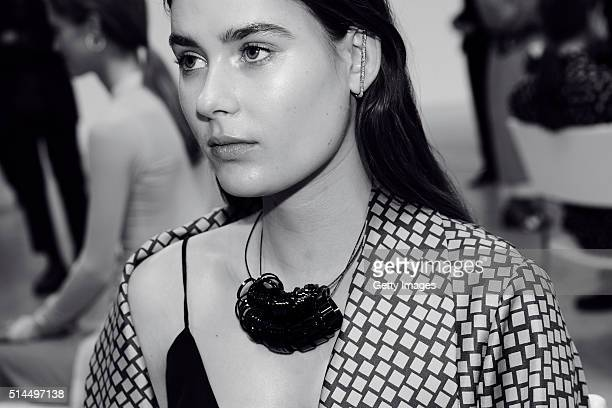 In this handout photo provided by Repossi Vera Van Erp attends Repossi Presentation of Agrafe Collection as part of the Paris Fashion Week Womenswear...