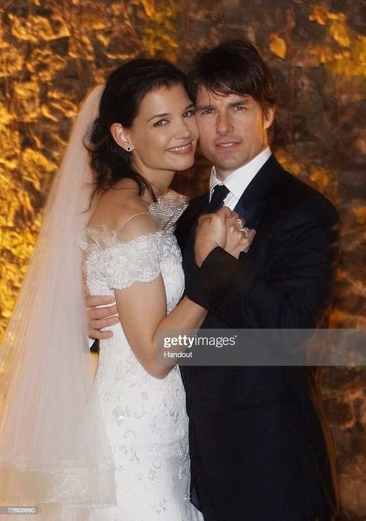 In this handout photo provided by Robert Evans, <a gi-track='captionPersonalityLinkClicked' href=/galleries/search?phrase=Tom+Cruise&family=editorial&specificpeople=156405 ng-click='$event.stopPropagation()'>Tom Cruise</a> and <a gi-track='captionPersonalityLinkClicked' href=/galleries/search?phrase=Katie+Holmes&family=editorial&specificpeople=201598 ng-click='$event.stopPropagation()'>Katie Holmes</a> pose together at Castello Odescalchi on their wedding day November 18, 2006 in Bracciano, near Rome, Italy.