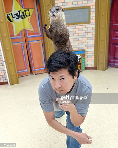 In this handout photo provided by SeaWorld San Diego actor Ken Jeong who stars in 'The Hangover Part III' and the new movie 'Turbo' enjoyed a day at...